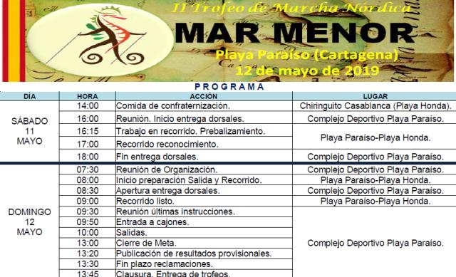 II TMN Mar Menor. Programa